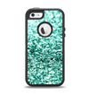 The Aqua Green Glimmer Apple iPhone 5-5s Otterbox Defender Case Skin Set