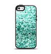 The Aqua Green Glimmer Apple iPhone 5-5s Otterbox Symmetry Case Skin Set