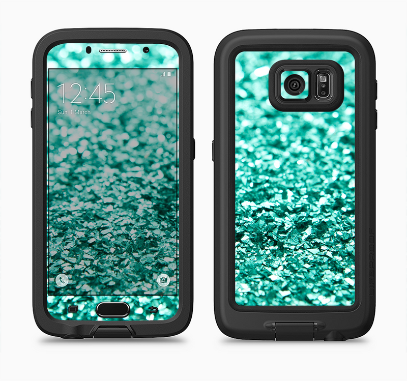 The Aqua Green Glimmer Full Body Samsung Galaxy S6 LifeProof Fre Case Skin Kit