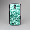 The Aqua Green Glimmer Skin-Sert Case for the Samsung Galaxy S4