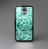 The Aqua Green Glimmer Skin-Sert Case for the Samsung Galaxy S5