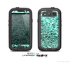 The Aqua Green Glimmer Skin For The Samsung Galaxy S3 LifeProof Case