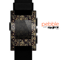 The Tiny Gold Floral Sprockets Skin for the Pebble SmartWatch