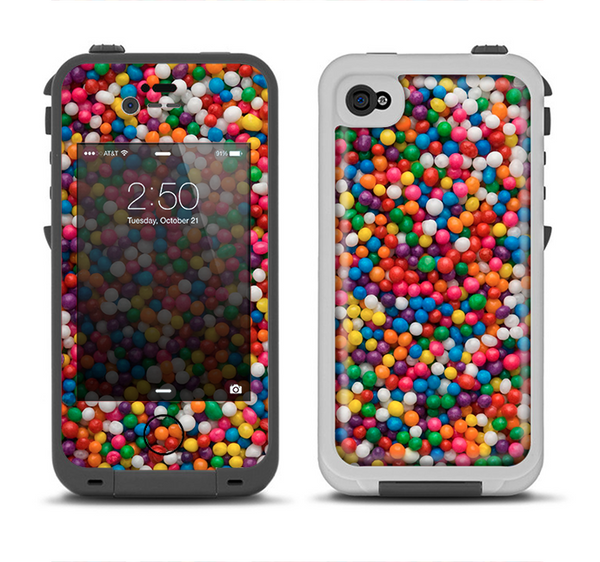 The Tiny Gumballs Apple iPhone 4-4s LifeProof Fre Case Skin Set