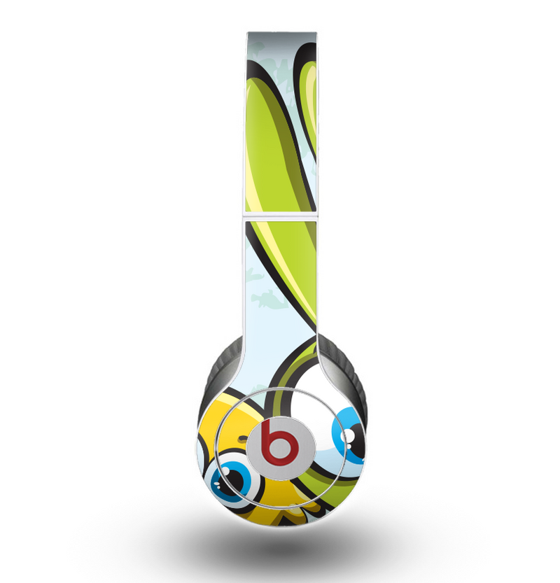 The Toon Green Rabbit and Yellow Chicken Skin for the Beats by Dre Original Solo-Solo HD Headphones