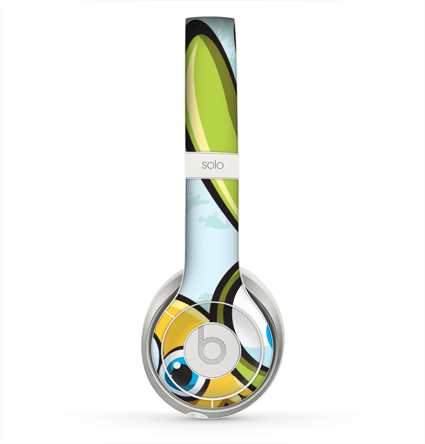 The Toon Green Rabbit and Yellow Chicken Skin for the Beats by Dre Solo 2  Headphones