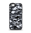 The Traditional Black & White Camo Apple iPhone 5-5s Otterbox Symmetry Case Skin Set