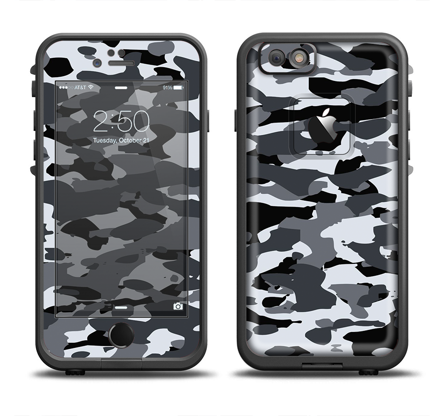 cheap for discount 8a55d 4e8c1 The Traditional Black & White Camo Apple iPhone 6/6s LifeProof Fre Case  Skin Set