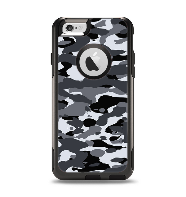 The Traditional Black & White Camo Apple iPhone 6 Otterbox Commuter Case Skin Set