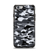 The Traditional Black & White Camo Apple iPhone 6 Otterbox Symmetry Case Skin Set