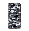 The Traditional Black & White Camo Apple iPhone 6 Plus Otterbox Symmetry Case Skin Set