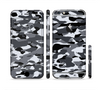 The Traditional Black & White Camo Sectioned Skin Series for the Apple iPhone 6