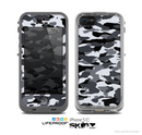 The Traditional Black & White Camo Skin for the Apple iPhone 5c LifeProof Case