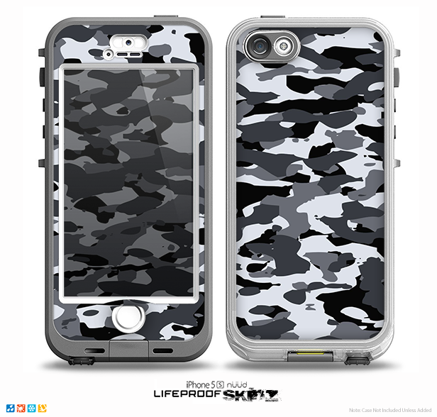 new concept c266f 4f555 The Traditional Black & White Camo Skin for the iPhone 5-5s NUUD LifeProof  Case for the LifeProof Skin