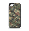 The Traditional Camouflage Fabric Pattern Apple iPhone 5-5s Otterbox Symmetry Case Skin Set