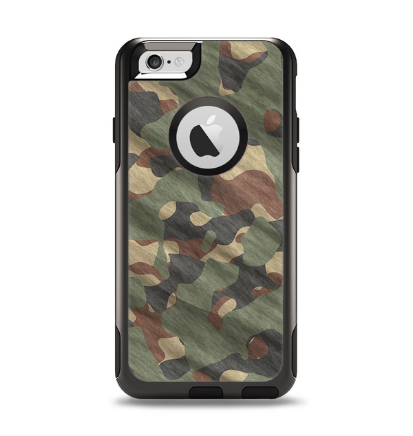 The Traditional Camouflage Fabric Pattern Apple iPhone 6 Otterbox Commuter Case Skin Set