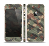 The Traditional Camouflage Fabric Pattern Skin Set for the Apple iPhone 5s