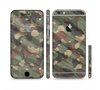 The Traditional Camouflage Fabric Pattern Sectioned Skin Series for the Apple iPhone 6
