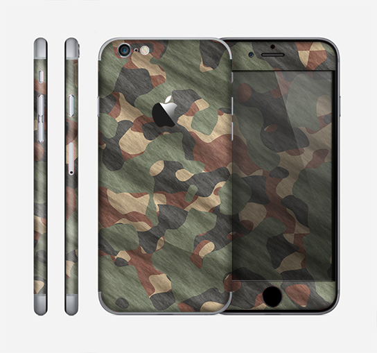 The Traditional Camouflage Fabric Pattern Skin for the Apple iPhone 6