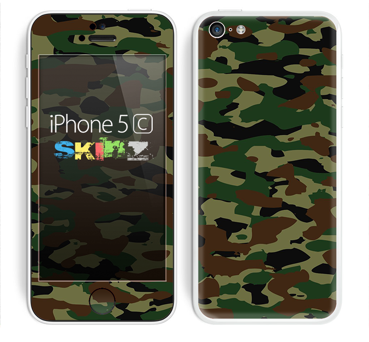 The Traditional Camouflage Skin for the Apple iPhone 5c