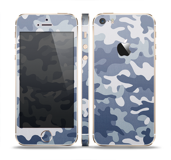 The Traditional Snow Camouflage Skin Set for the Apple iPhone 5s