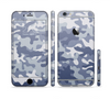 The Traditional Snow Camouflage Sectioned Skin Series for the Apple iPhone 6