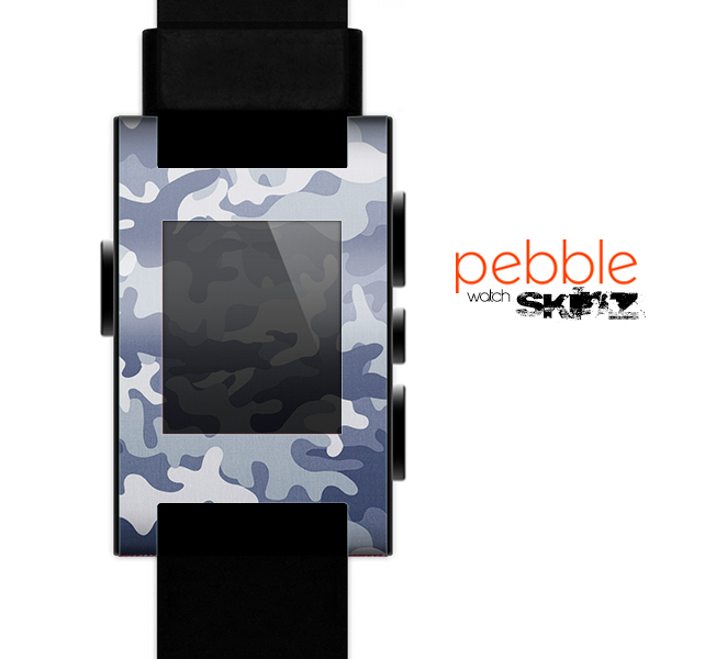 The Traditional Snow Camouflage Skin for the Pebble SmartWatch