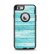 The Trendy Blue Abstract Wood Planks Apple iPhone 6 Otterbox Defender Case Skin Set