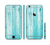 The Trendy Blue Abstract Wood Planks Sectioned Skin Series for the Apple iPhone 6
