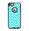 The Trendy Blue Sharp Chevron Pattern Apple iPhone 6 Otterbox Defender Case Skin Set