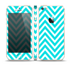 The Trendy Blue Sharp Chevron Pattern Skin Set for the Apple iPhone 5s