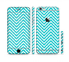The Trendy Blue & White Sharp Chevron Pattern Sectioned Skin Series for the Apple iPhone 6 Plus