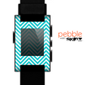 The Trendy Blue & White Sharp Chevron Pattern Skin for the Pebble SmartWatch