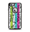 The Trendy Colored Striped Abstract Cube Pattern Apple iPhone 6 Otterbox Defender Case Skin Set