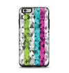 The Trendy Colored Striped Abstract Cube Pattern Apple iPhone 6 Plus Otterbox Symmetry Case Skin Set