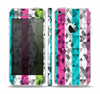 The Trendy Colored Striped Abstract Cube Pattern Skin Set for the Apple iPhone 5
