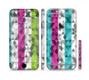 The Trendy Colored Striped Abstract Cube Pattern Sectioned Skin Series for the Apple iPhone 6