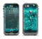 The Trendy Green Space Surface Apple iPhone 5c LifeProof Nuud Case Skin Set