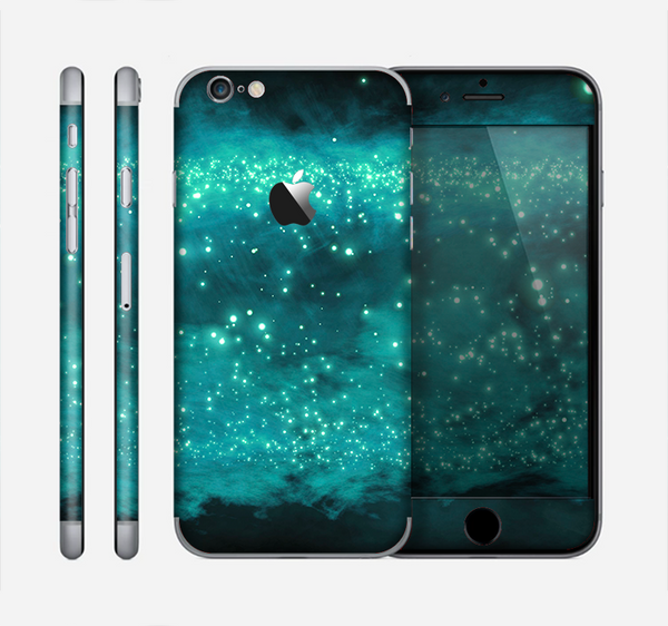 The Trendy Green Space Surface Skin for the Apple iPhone 6