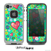 The Trendy Green Vintage Vector Heart Buttons Skin for the iPhone 4 or 5 LifeProof Case