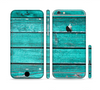 The Trendy Green Washed Wood Planks Sectioned Skin Series for the Apple iPhone 6 Plus