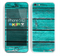 The Trendy Green Washed Wood Planks Skin for the Apple iPhone 5c