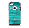 The Trendy Green Washed Wood Planks Skin for the iPhone 5c OtterBox Commuter Case