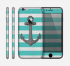 The Trendy Grunge Green Striped With Anchor Skin for the Apple iPhone 6