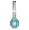The Trendy Teal to White Aged Wood Planks Skin for the Beats by Dre Solo 2 Headphones