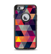 The Triangular Abstract Vibrant Colored Pattern Apple iPhone 6 Otterbox Defender Case Skin Set