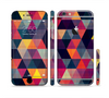 The Triangular Abstract Vibrant Colored Pattern Sectioned Skin Series for the Apple iPhone 6