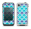 The Triangular Teal & Purple Abstract Cubes Apple iPhone 4-4s LifeProof Fre Case Skin Set