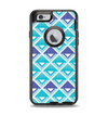 The Triangular Teal & Purple Abstract Cubes Apple iPhone 6 Otterbox Defender Case Skin Set