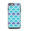 The Triangular Teal & Purple Abstract Cubes Apple iPhone 6 Plus Otterbox Symmetry Case Skin Set